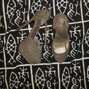 Tan Diamond High Heels